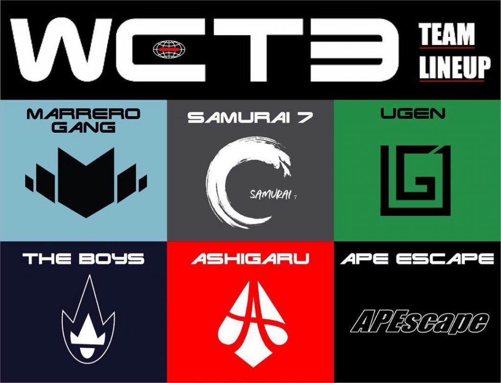 WCT3出場チーム
